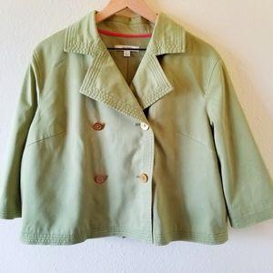 Liz Claiborne Green Pea Coat Blazer